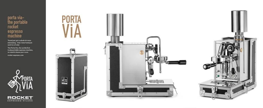 Macchina per l'espresso portatile: Rocket Portavia - Christopher Grassini